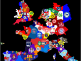 Map Of Europe 2014 Map Of top Division Football Clubs In Major European Leagues