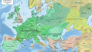 Map Of Europe 800 Ad Early Middle Ages Wikipedia