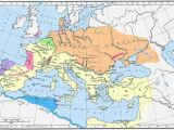 Map Of Europe and Central asia What Effect Did the Huns Have On Europe