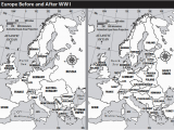 Map Of Europe before and after World War 1 Europe before after Wwi Teaching Effects Of Wwi Ww