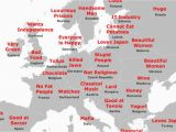 Map Of Europe Countries Only the Japanese Stereotype Map Of Europe How It All Stacks Up