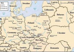 Map Of Europe During the Holocaust Holocaust Map Of Concentration and Death Camps