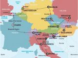 Map Of Europe Eurail Europe tours Trips 2016 2017 with Contiki World Travel