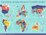Map Of Europe for Sale World Map the Literal Translation Of Country Names