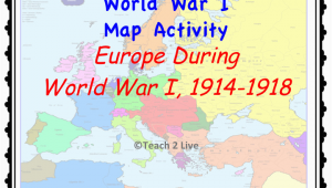 Map Of Europe In 1918 Ww1 Map Activity Europe During the War 1914 1918 social