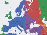 Map Of Europe In 1937 Europe Map Time Zones Utc Utc Wet Western European Time
