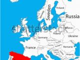 Map Of Europe In English Spain On the Map Of Europe