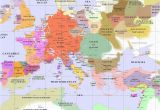 Map Of Europe In Middle Ages Medieval Europe 1200 Useful Historical Maps Pinterest at Map