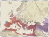 Map Of Europe In Roman Times Europe 420 Ad Maps and Globes Map Roman Empire