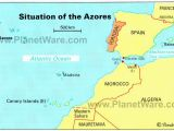 Map Of Europe islands Azores islands Map Portugal Spain Morocco Western Sahara