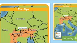 Map Of Europe Ks2 the Alps Map Habitat Mountain Climate Animals Europe