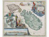 Map Of Europe Malta 1720 Malta Map Poster Zazzle Com Old Malta Malta Map