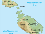 Map Of Europe Malta topographic Map Of Malta Draw It to Know It In 2019