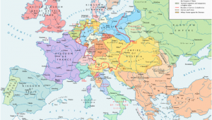 Map Of Europe Mid 18th Century former Countries In Europe after 1815 Wikipedia
