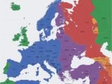 Map Of Europe Over Time Europe Map Time Zones Utc Utc Wet Western European Time