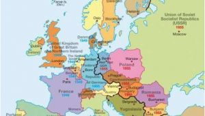 Map Of Europe Pre Ww2 A Map Of Europe During the Cold War You Can See the Dark