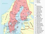 Map Of Europe Scandinavia Historical Maps Of Scandinavia