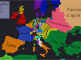Map Of Europe with Austria Europe In 1618 Beginning Of the 30 Years War Maps