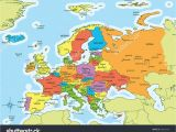 Map Of Europe with Capitals and Major Cities 25 Categorical Map Of Eastern Europe and Capitals