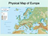 Map Of Europe with Physical Features Physical Europe Map Climatejourney org
