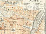 Map Of Firenze Italy Turin torino Italy City Map 19th Century Map Antique 1890s