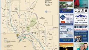 Map Of fort Bliss Texas 2016 El Paso fort Bliss Map by Mesa Publishing Corp Blue Sky