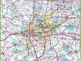 Map Of fort Worth Texas and Surrounding areas Dallas area Road Map