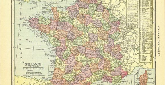 Map Of France 1914 1914 Security Handy atlas Vintage Map Pages France On One Side and
