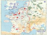 Map Of France and Britain Overlord Plan Combined Bomber Offensive and German