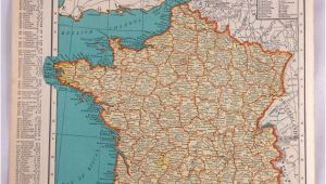 Map Of France and Germany with Cities 1937 Map Of France Antique Map Of France 81 Yr Old