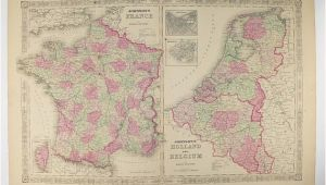 Map Of France and Holland original Antique France Map Holland Map Belgium Netherlands Map