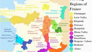 Map Of France and Regions French Wine Growing Regions and An Outline Of the Wines Produced In