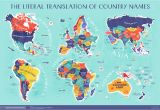 Map Of France In English World Map the Literal Translation Of Country Names