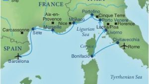 Map Of France Ports Map Of Italy and Surrounding areas Cruising the Rivieras Of Italy