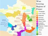Map Of France Roads French Wine Growing Regions and An Outline Of the Wines