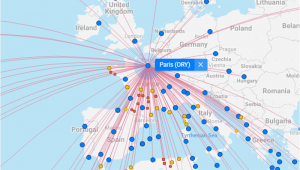 Map Of France Showing Airports All Flights Worldwide On A Flight Map Flightconnections Com