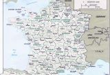 Map Of France Showing Bordeaux Map Of France Departments Regions Cities France Map