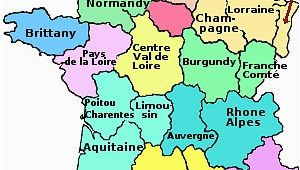Map Of France Showing Brittany the Regions Of France