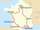 Map Of France Showing Paris 1903 tour De France Wikipedia