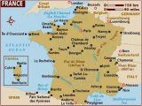 Map Of France Showing Paris Map Of France