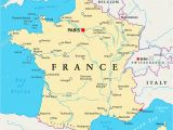 Map Of France with Cities and Rivers English Channel Map Stock Photos English Channel Map Stock Images