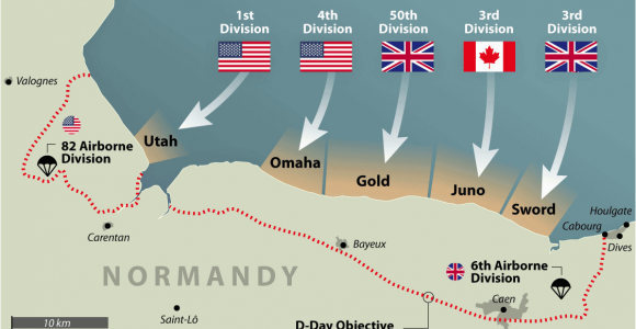 Map Of France with normandy D Day normandy Landings Map Wwii Europe 1944 D Day normandy