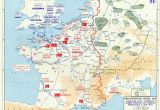 Map Of France with normandy Overlord Plan Combined Bomber Offensive and German Dispositions 6