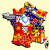 Map Of France with Provinces French Regions Flag Map by Heersander Heritage France Map