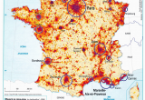 Map Of France with towns France Population Density and Cities by Cecile Metayer Map