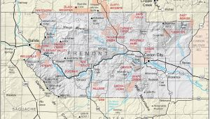 Map Of Fremont County Colorado Map Fremont County Colorado List Of Colorado Map with Cities and