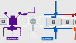 Map Of George Bush Intercontinental Airport Houston Texas Houston Airport Iah Terminal B
