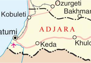 Map Of Georgia southern A More Detailed Map Of Adjara Georgia and Colchian Culture