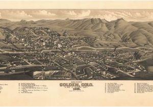Map Of Golden Colorado Historic Map Golden Co 1882 Maps Pinterest Colorado