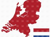 Map Of Holland Europe Netherlands Map and Flag Stock Vector Image